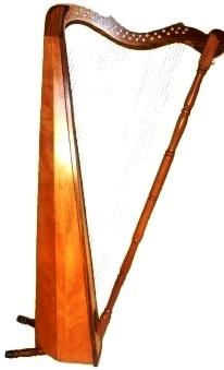Foto de un arpa clásico