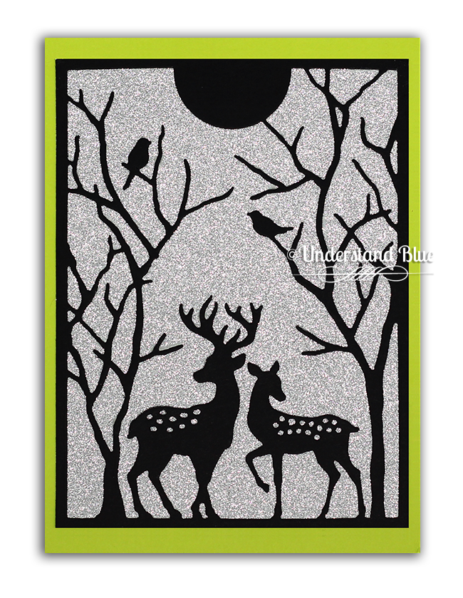 Spotted Deer Frame Die Cut card