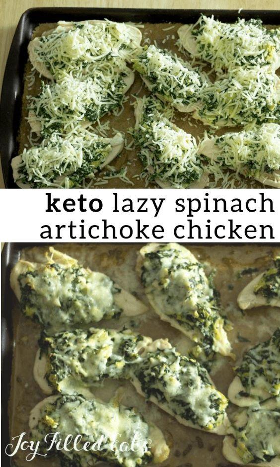 Lazy Spinach Artichoke Chicken Breasts