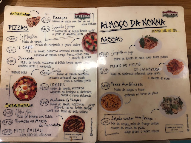 Blog Apaixonados por Viagens - Capo Donna Pizzeria - Rio de Janeiro