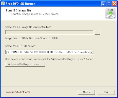 Free DVD ISO Burner New Version Record ISO images of DVD and CD
