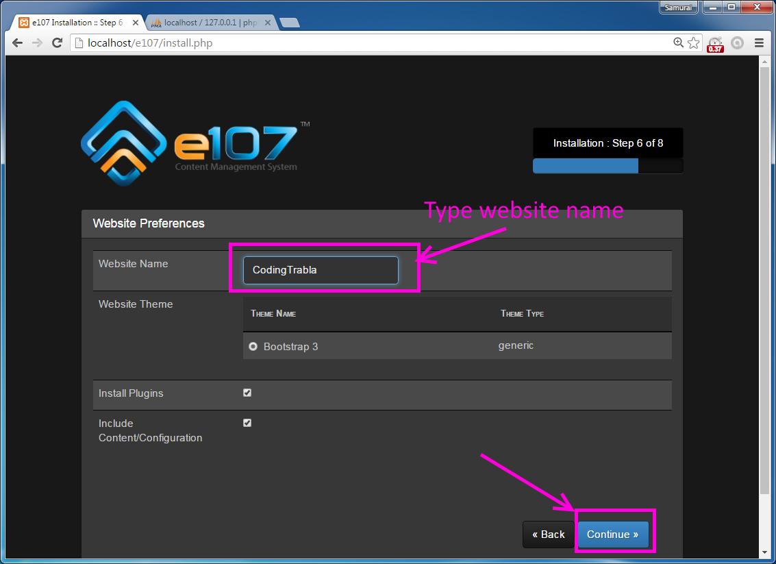 codingtrabla: Install e107 CMS on windows