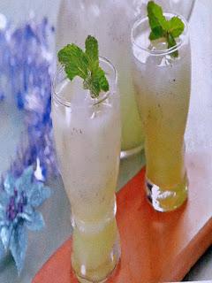 Gambar Resep Minuman Segar Melon Mint