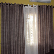 Green Eyelet Living Room Curtains in Port Harcourt, Nigeria
