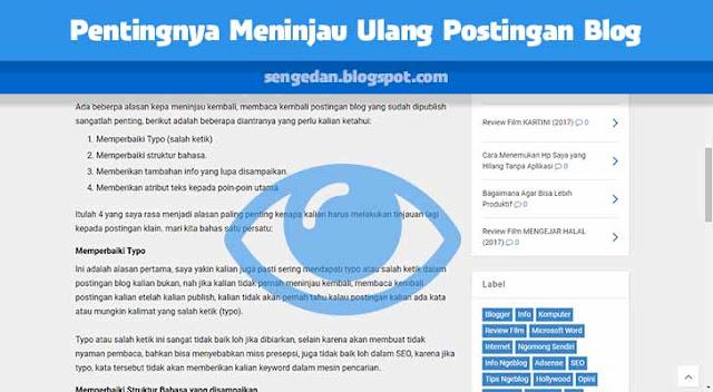 Pentingnya Meninjau Ulang Postingan Blog