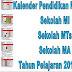 Kalender Pendidikan Sekolah Madrasah Tahun 2018/2019