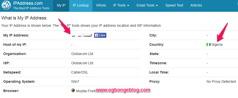 Ip address checker and IP location country checker