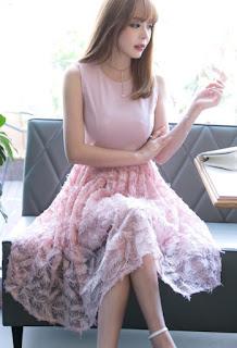 Summer long dresses design for lady
