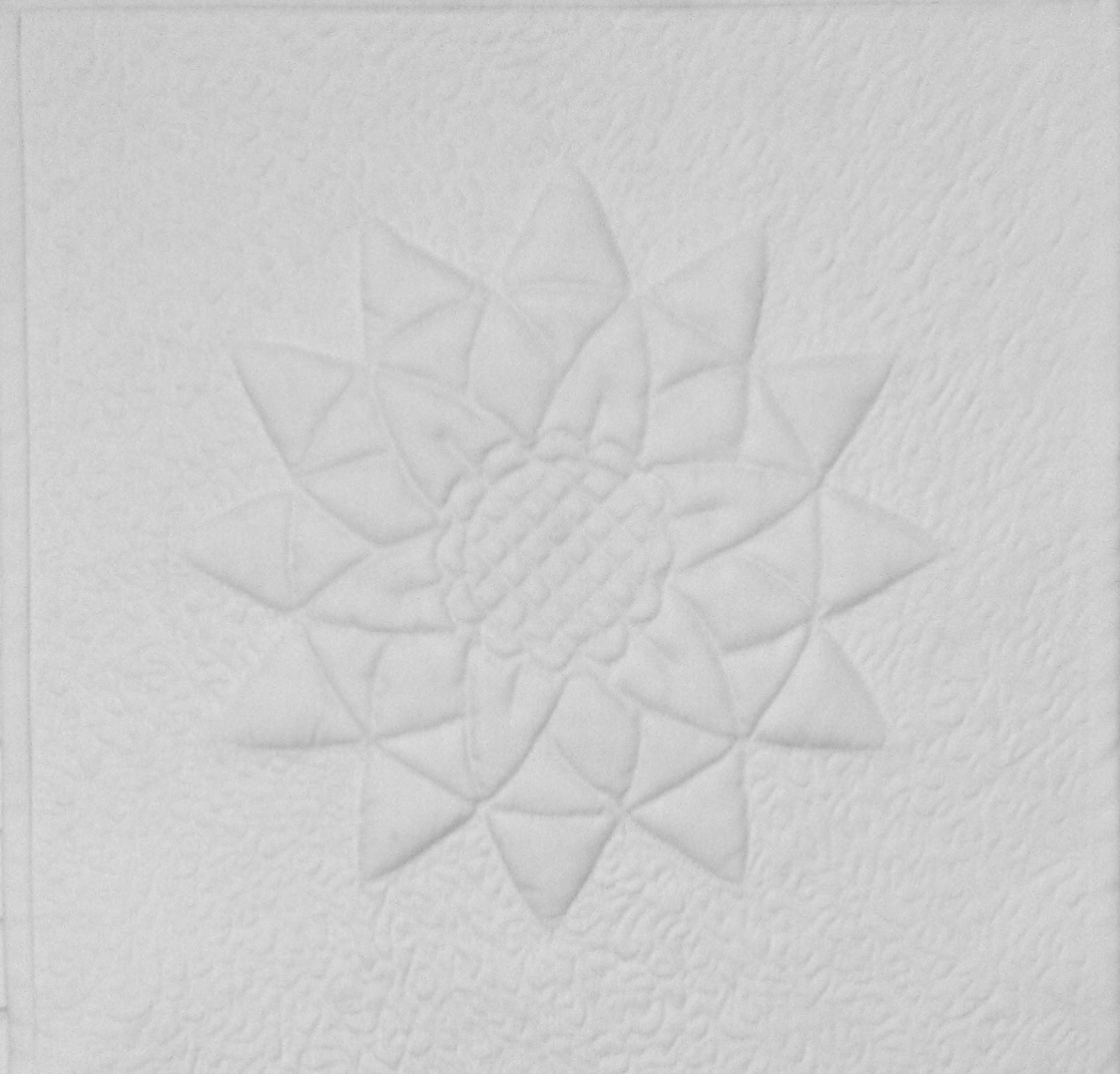 Mini-Quilt Project: #40 Trapunto Sunflower