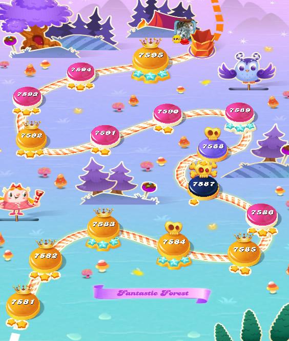 Candy Crush Saga level 7581-7595