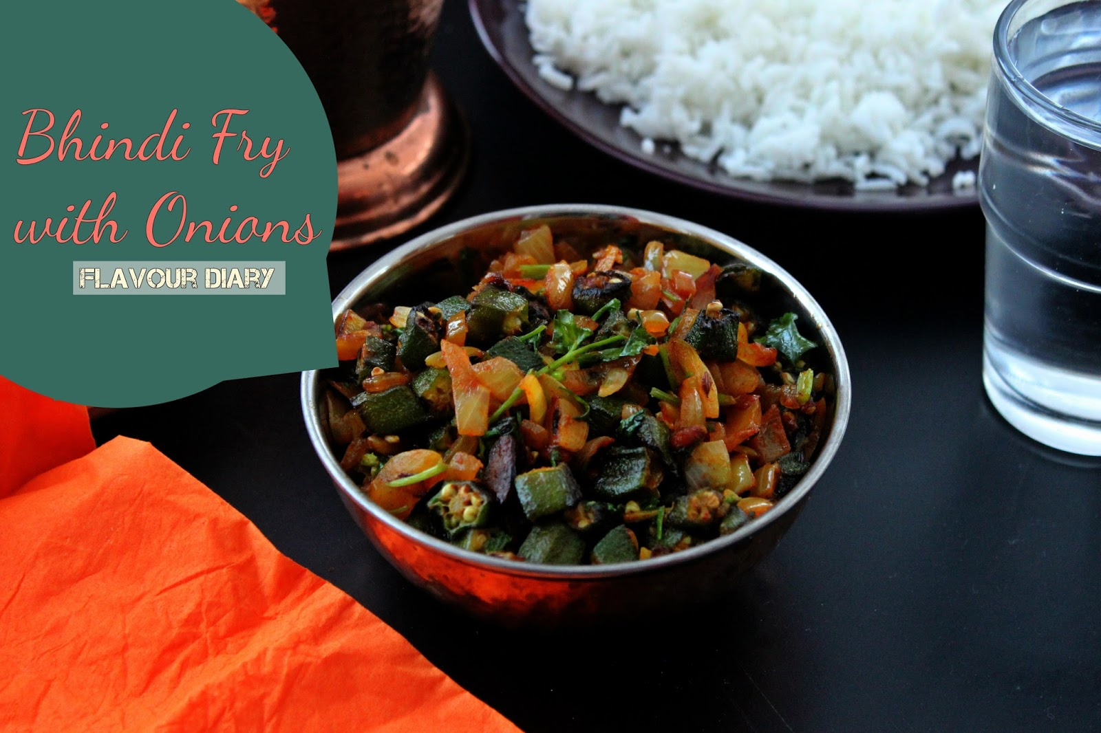 Okra/Bhindi/Ladys Finger Fry with Onions Recipe