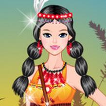 لعبة تلبيس بنت الهنود الحمر