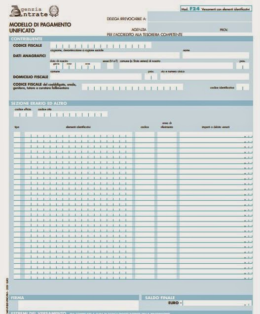 Locazioni come compilare il modello f24 elide for Imposta di registro locazione