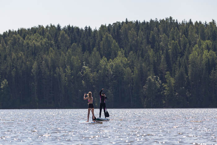 suppaus järvessä