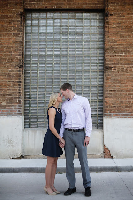 engagement picture with brick sioux city