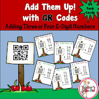 Add four 2-digit numbers with QR codes