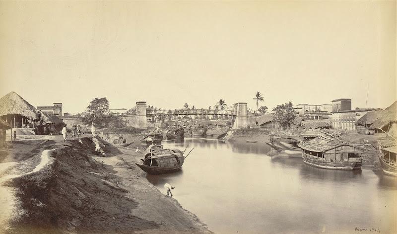 Tolly's Nullah (Adi Ganga) near Kalighat - Calcutta (Kolkata) 1860's