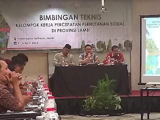 Direktur PKPS Kementerian KLHK Buka Bimtek Pokja PPS Provinsi Jambi.
