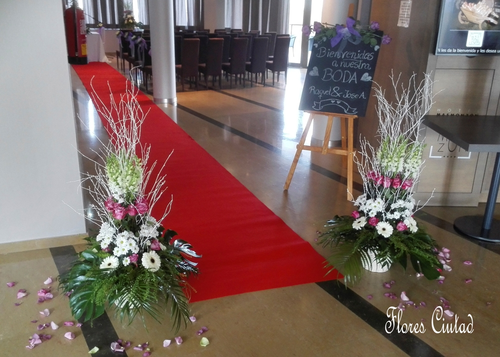 Flores ciutad boda civil de raquel y jos antonio for Decoracion entradas