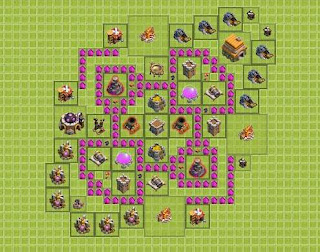 Base Clash of Clans Terbaik TH 6 Farming