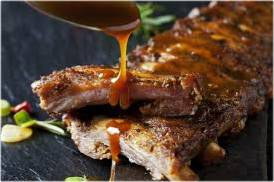 marinade sauce on bbq ribs