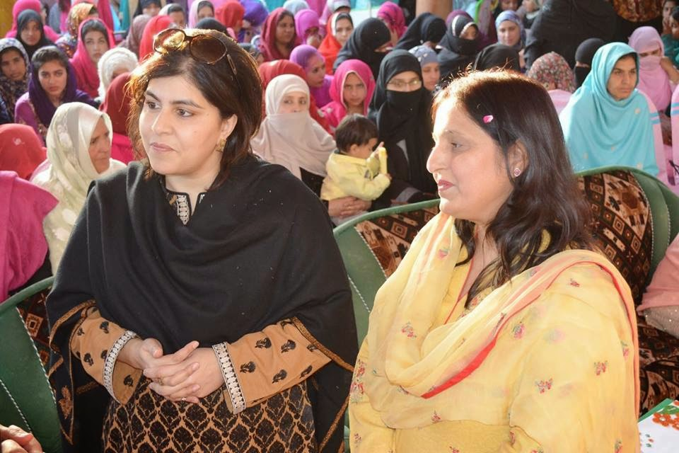 Baroness Sayeeda with her cousin Nusrat Mubashar in their native Village Bewal