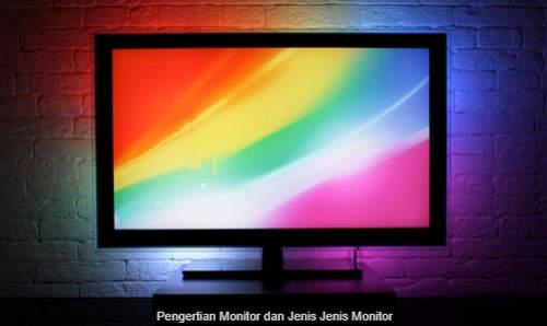 Pengertian Monitor dan Fungsinya serta Jenisnya