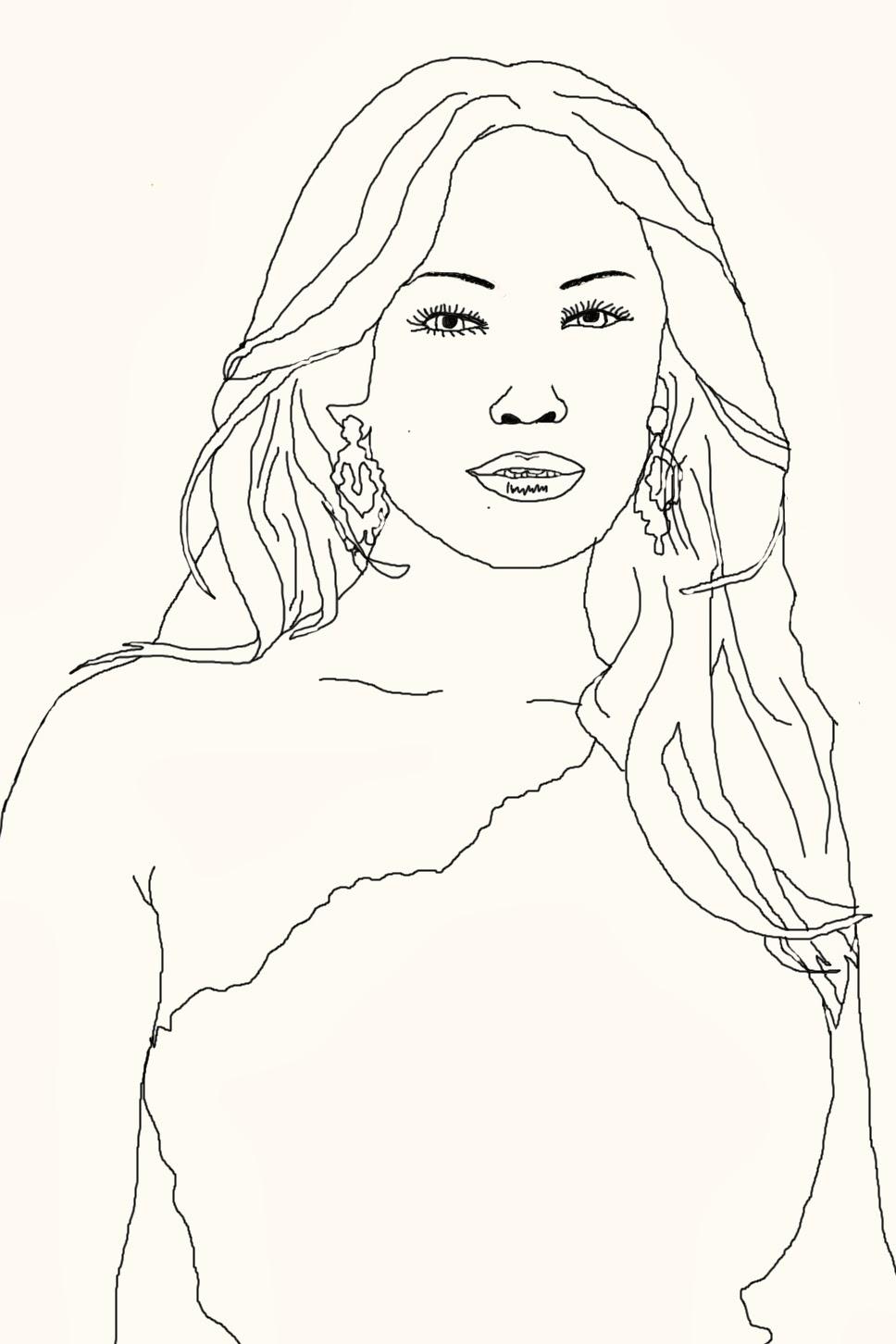 Art Attack Celebrity Coloring Book Page Jennifer Lopez