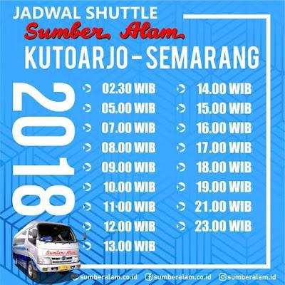 Jadwal Shuttle Sumber Alam Kutoarjo - Semarang