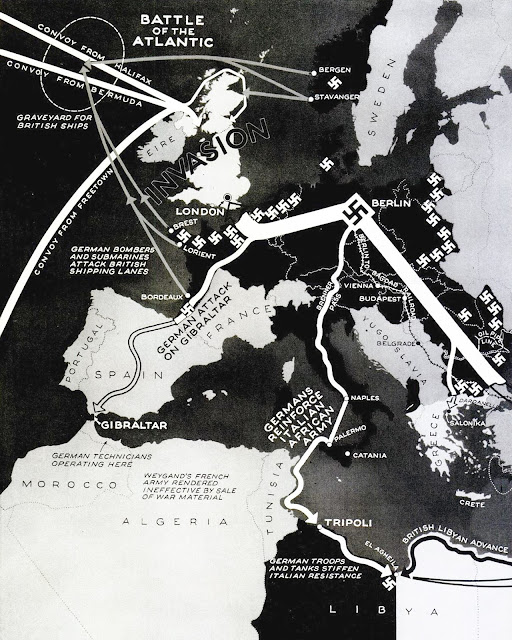 17 March 1941 worldwartwo.filminspector.com Life Europe map