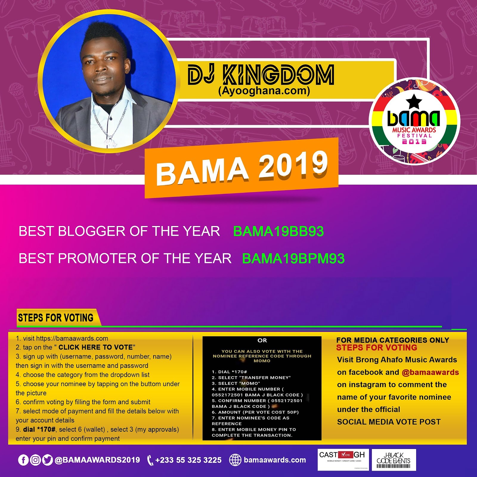 Vote Dj Kingdom Best Blogger and Best Promoter Of The Year