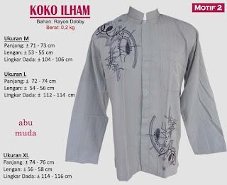 Koko model bordir tangan panjang 1 warna - ilham 2