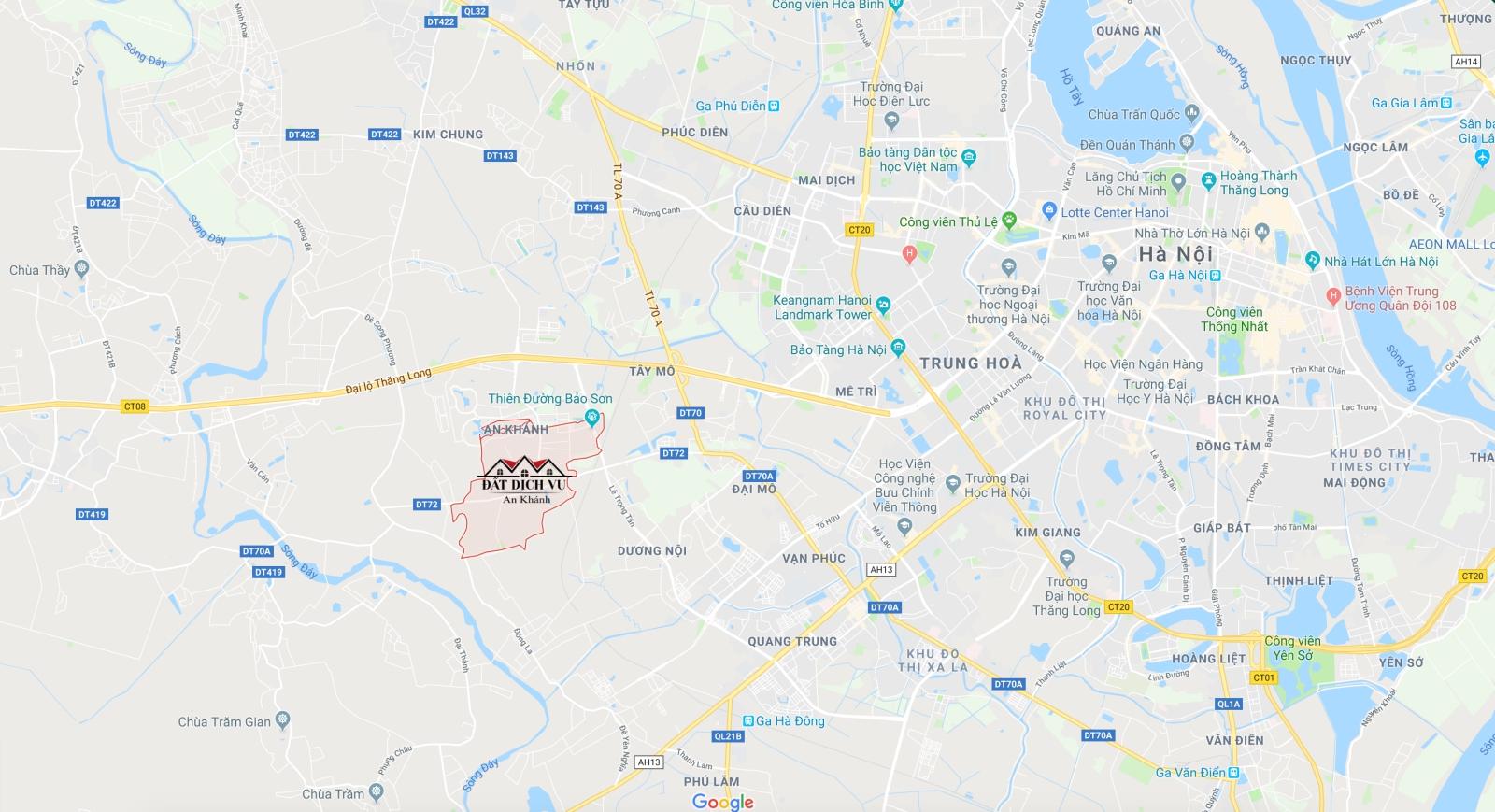 Vị trí dự án đất dịch vụ An Khánh