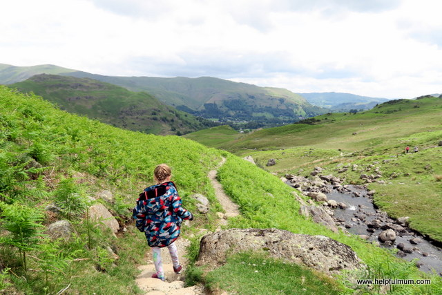 Walking down from Easedale Tarn