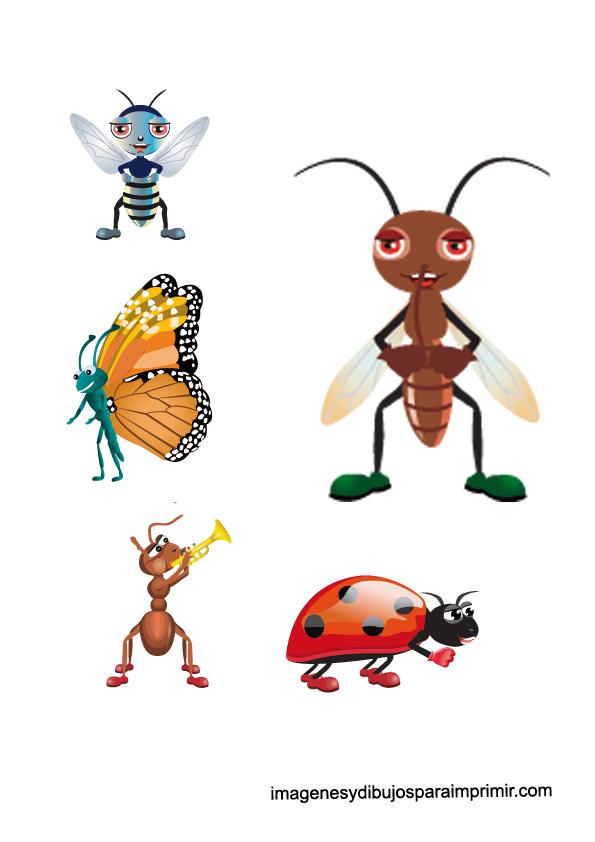 Insectos infantiles para imprimir | Imagenes y dibujos para imprimir