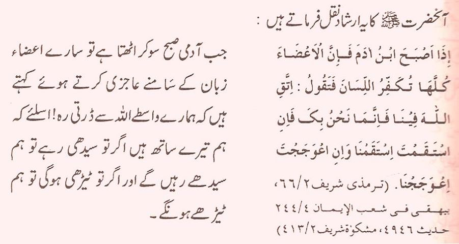 Hadith: Zaban ki afaat - Towards Islam