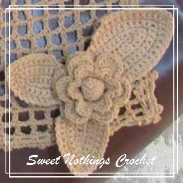 Sweet Nothings crochet Exquisite Irish Lace scarf