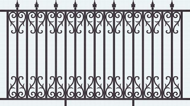 pagar besi tempa untuk rumah minimalis