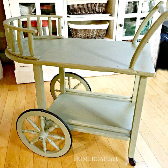 A Rolling Tea Cart