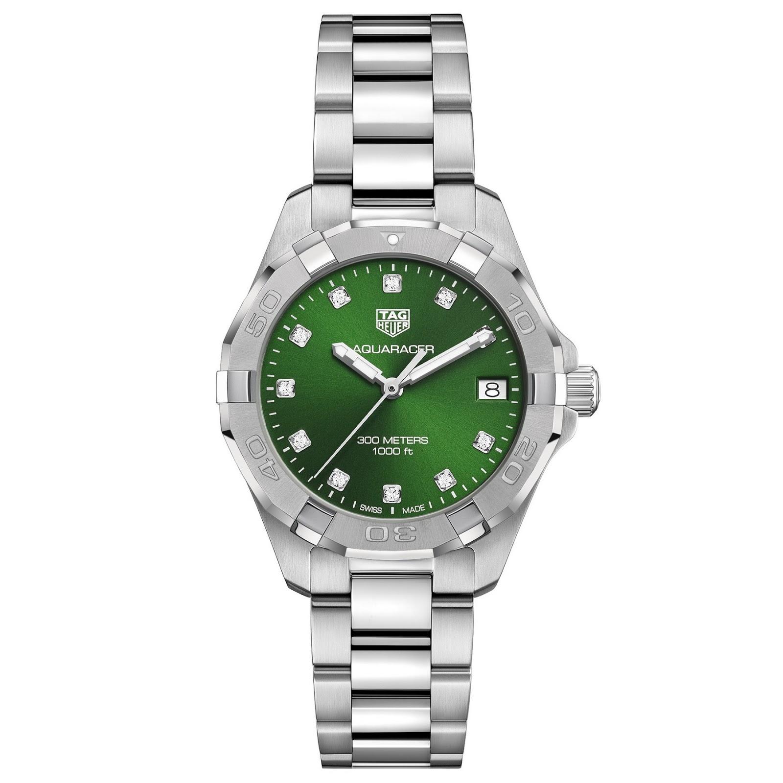 Tag Heuer's new Emerald Green Aquaracers TAG+Heuer+Aquracer+EMERALD+03