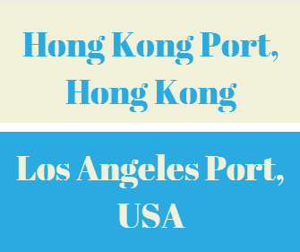 What is the transit time between Hong Kong Port and Los