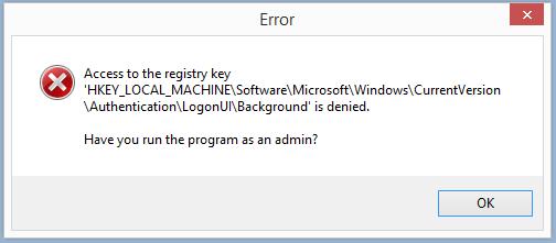 Run as Administrator - Windows 7 Lock Screen Changer 1