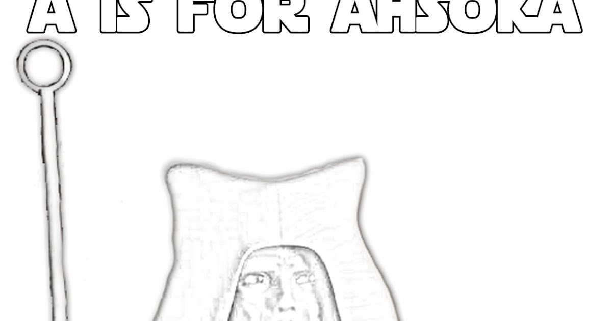 A is for Ahsoka Tano - Alphabet Coloring Page - The Star Wars Mom ...