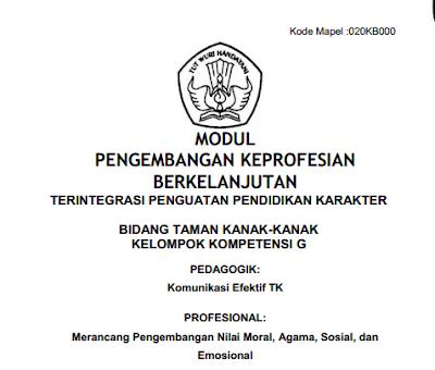 Geveducation:  Modul Pengembangan Keprofesian Berkelanjutan (PKB) untuk Kelompok Kompetensi G