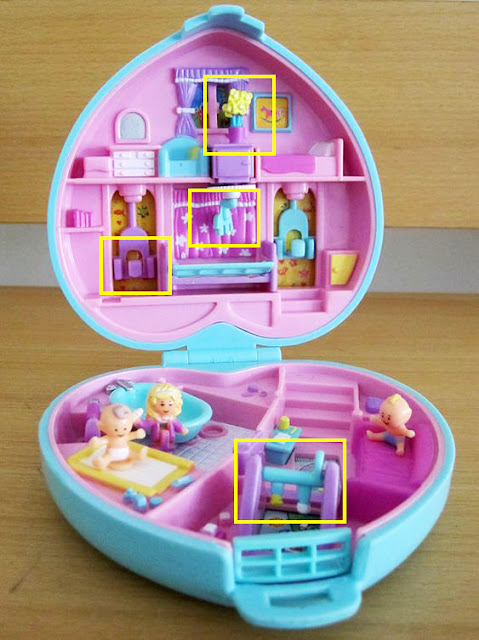 estojinho polly pocket vintage completo