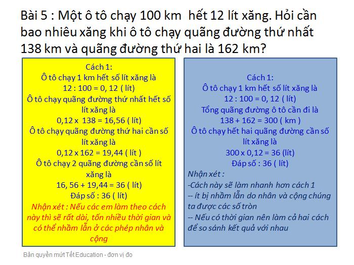 Bài tập đổi đơn vị đo độ dài - Toán lớp 5(12)