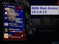 Download BBM Mod Tema Arema Cronus Apk v3.1.0.13 Update Terbaru Gratis for Android