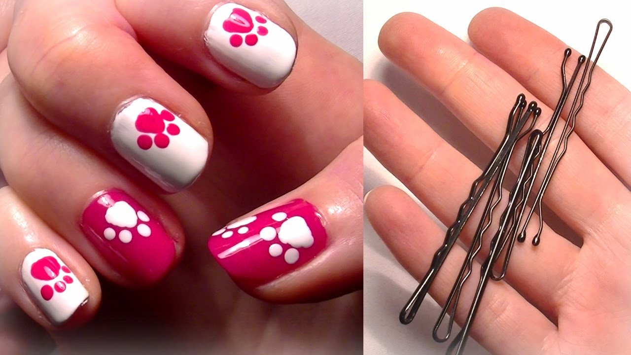 Easy To Do Bobby Pin Nail Art