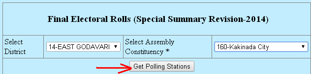 Final Electoral Rolls (Special Summary Revision-2014)