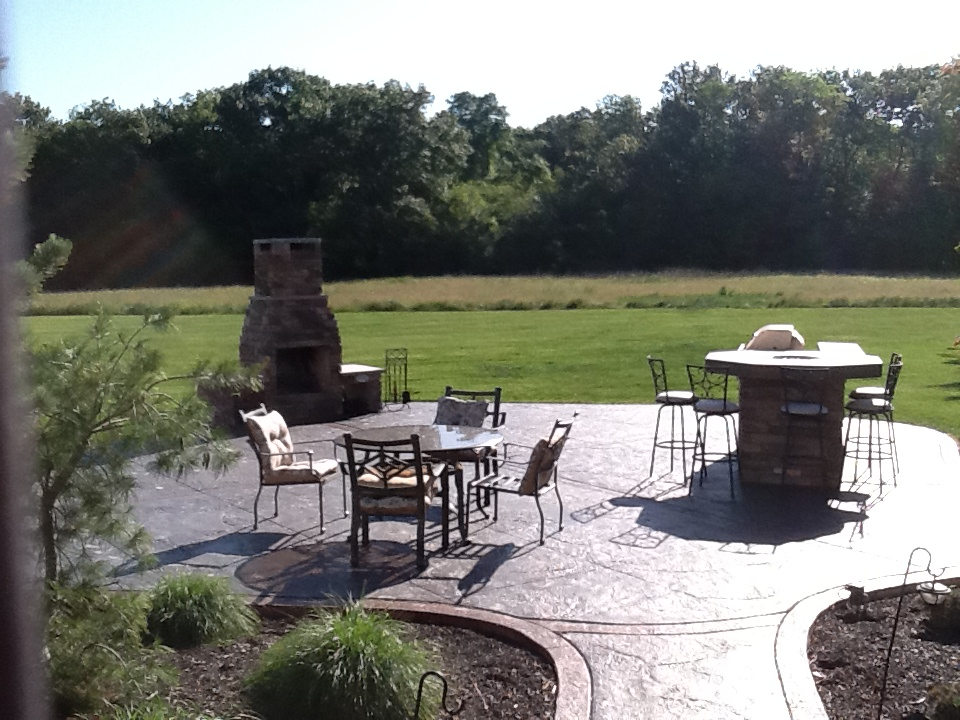Outdoor Living: Decorative Concrete - Outdoor Living Space ... on Fancy Outdoor Living id=55014